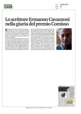 Lo scrittore Ermanno Cavazzoni nella Giuria del Premio Comisso (La Vita del Popolo, 10/02/2019)
