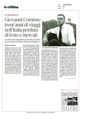 Giovanni Comisso trent'anni di viaggi nell'Italia perduta di feste e mercati (La Tribuna di Treviso, 12/02/2019)