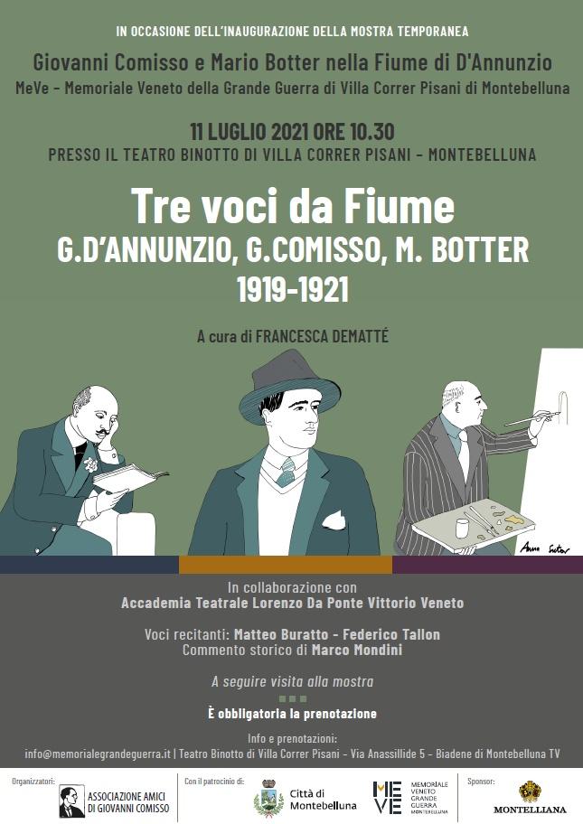 Tre voci da Fiume. G. D'Annunzio, G. Comisso, M. Botter 1919-1921