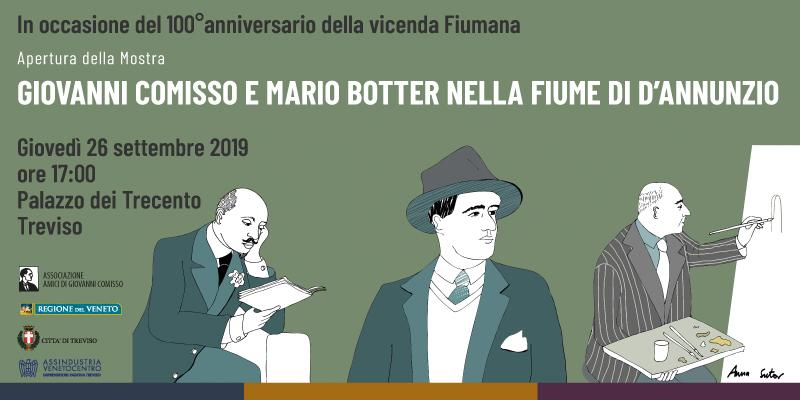 Giovanni Comisso e Mario Botter nella Fiume di D'Annunzio