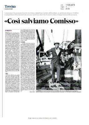 """Ecco il Comisso digitalizzato. """"Così salviamo le sue opere"""" (Il Gazzettino - Treviso, 17/01/2019)"""