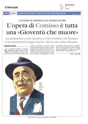 """L'opera di Comisso è tutta una """"Gioventù che muore"""" (Il Giornale, 05/05/2019)"""