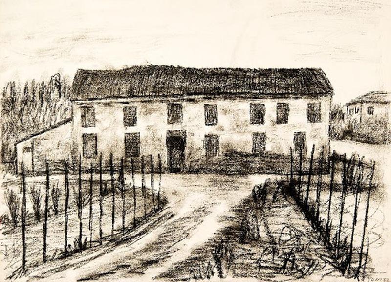 Tono Zancanaro - Alluvione in Polesine (Archivio Storico Tono Zancanaro)