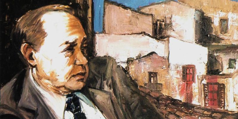 Totò Bonanno - Ritratto di Leonardo Sciascia - 1986 (Wikipedia)