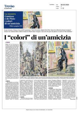 Comisso e de Pisis: i colori di un'amicizia - La mostra (Il Gazzettino, 06/02/2020)