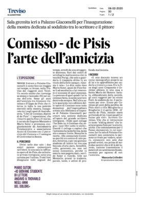 Comisso - de Pisis l'arte dell'amicizia (Il Gazzettino, 08/02/2020)